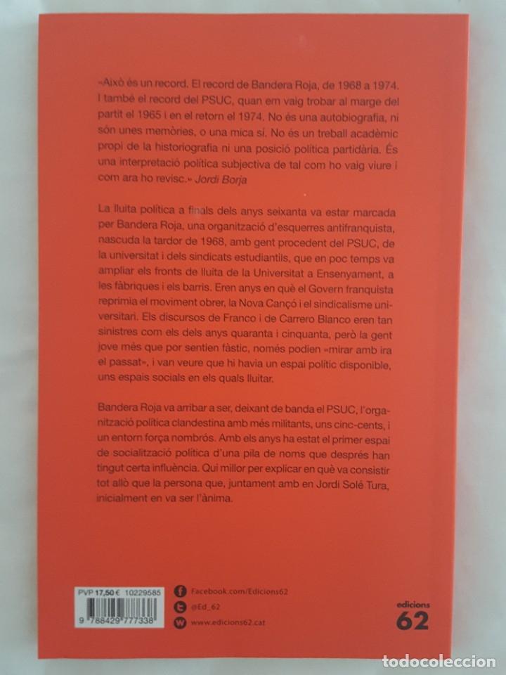 Libros: LIBRO / BANDERA ROJA / JORDI BORJA 2018 - Foto 2 - 179207118