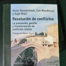Libros: RESOLUCIÓN DE CONFLICTOS. Lote 183469678