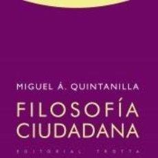 Libros: FILOSOFÍA CIUDADANA. Lote 191145376