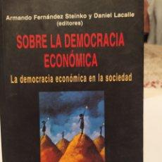 Libros: SOBRE LA DEMOCRACIA ECONOMICA TOMO L. Lote 195435886