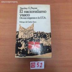 Libros: EL NACIONALISMO VASCO. Lote 196022971