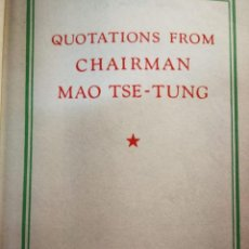 Libros: QUOTATIONS FROM CHAIRMAN MAO TSE TUNG . Lote 196228121