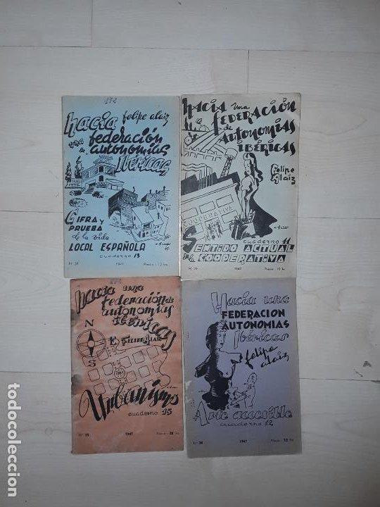 FELIPE ALAIZ. LOTE DE 4 TÍTULOS DE EDICIONES « TIERRA Y LIBERTAD » PUBLICADOS EN EL EXILIO FRANCÉS. (Libros Nuevos - Humanidades - Política)