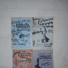 Libros: FELIPE ALAIZ. LOTE DE 4 TÍTULOS DE EDICIONES « TIERRA Y LIBERTAD » PUBLICADOS EN EL EXILIO FRANCÉS.. Lote 197754822