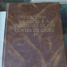 Libros: COLECCIÓN DE DECRETOS Y ÓRDENES DE LAS CORTES DE CÁDIZ.. Lote 198612597