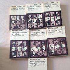 Libros: G. D. H. COLE - STORIA DEL PENSIERO SOCIALISTA - LATERZA, 7 VOL.. Lote 209012775