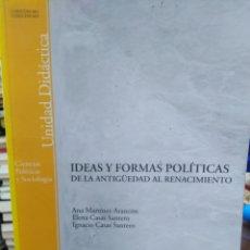 Libros: IDEAS Y FORMAS POLÍTICAS DE LA ANTIGÜEDAD AL RENACIMIENTO-ANA MARIA ARANCO-CIENCIAS POLÍTICAS,2005. Lote 218971731