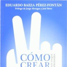 Libros: COMO CREAR UNA CAMPAÑA ELECTORAL DE ÉXITO (EDUARDO BAEZA) EIUNSA 2012. Lote 219099148