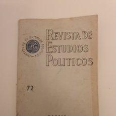 Libros: REVISTAS DE ESTUDIO POLITICOS 1953 N 72. Lote 220745768