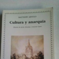 Libri: CULTURA Y ANARQUÍA. MATTHEW ARNOLD. CÁTEDRA LETRAS UNIVERSALES. 2010. Lote 223927868