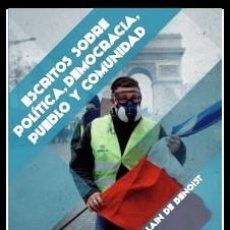 Libros: ESCRITOS SOBRE POLÍTICA, DEMOCRACIA, PUEBLO Y COMUNIDAD. DE ALAIN DE BENOIST BIBLIOTECA METAPOLÍTIKA. Lote 226474440