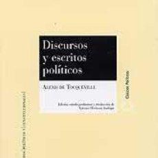Libros: DISCURSOS Y ESCRITOS POLÍTICOS AUTOR: DE TOCQUEVILLE, A. (AUTOR). Lote 231240180