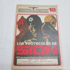 Libros: LOS PROTOCOLOS DE SION - BIBLIOTECA DE FORMACION DOCTRINARIA - 1976. Lote 236710395
