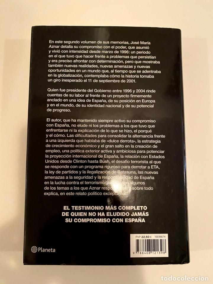 """Libros: """"JOSÉ MARÍA AZNAR EL COMPROMISO DEL PODER"""" - MEMORIAS II - Foto 2 - 244968000"""