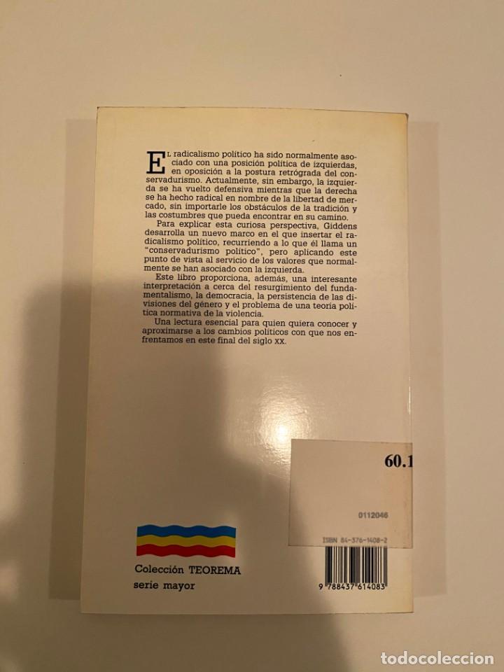 """Libros: """"MÁS ALLÁ DE LA IZQUIERDA Y LA DERECHA"""" - ANTHONY GIDDENS - Foto 2 - 244989570"""