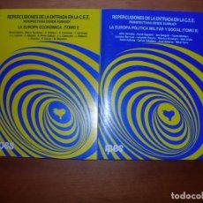 Libros: REPERCUSIONES DE LA ENTRADA EN LA C. E. E. /PERSPECTIVAS DESDE EUSKADI / VVAA./ 2 TOMOS. Lote 253192790