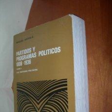 Libros: PARTIDOS Y PROGRAMAS POLÍTICOS 1808 - 1936 / MIGUEL ARTOLA / TOMO I. Lote 253331995