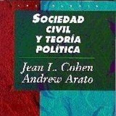 Libros: SOCIEDAD CIVIL Y TEORÍA POLÍTICA.. Lote 279582338