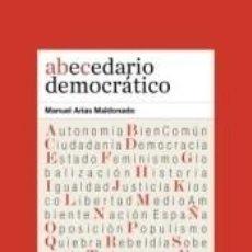 Libros: ABECEDARIO DEMOCRÁTICO. Lote 286812458