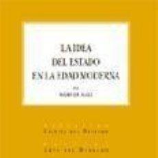Libros: LA IDEA DEL ESTADO EN LA EDAD MODERNA.. Lote 295729518