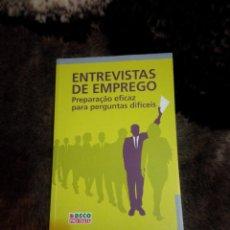 Libros: ENTREVISTAS DE TRABAJO - PREPARACIÓN EFECTIVA PARA PREGUNTAS DIFÍCILES. Lote 53276583