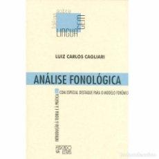 Libros: ANÁLISE FONOLÓGICA INTRODUÇÃO À TEORIA E À PRÁTICA.LUIZ CARLOS CAGLIARI. Lote 211516029