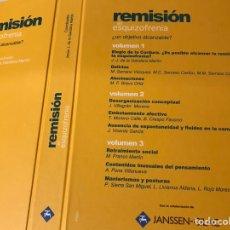 Libros: REMISIÓN EN ESQUIZOFRENIA ¿UN OBJETIVO ALCANZABLE? 3 VOLÚMENES. Lote 95224756