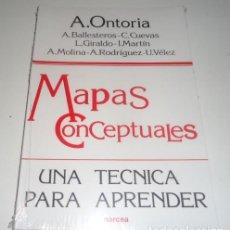 Libros: MAPAS CONCEPTUALES: UNA TECNICA PARA APRENDER POR ANTONIO ET AL. ONTORIA PEÑA . Lote 101416851