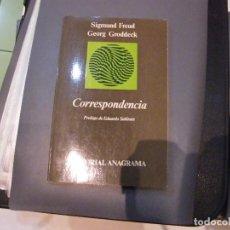 Libros: CORRESPONDENCIA. SIGMUND FREUD GEORG GRODDECK. Lote 105474871