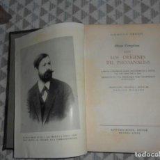 Libros: LOS ORIGENES DEL PSICOANALISIS, TOMO 22 DE OBRAS COMPLETAS. SIGMUND FREUD. 1956. Lote 124517991