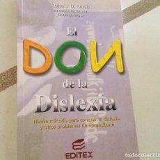 Libros: EL DON DE LA DISLEXIA. Lote 145653572