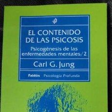 Libros: EL CONTENIDO DE LAS PSICOSIS PSICOGENESIS DE LAS ENFERMEDADES MENTALES /2 CARL G JUNG. Lote 150262158