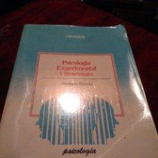 Libros: LIBRO PSICOLOGÍA EXPERIMENTAL: METODOLOGÍA. Lote 181005571