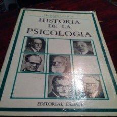 Libros: HISTORIA DE LA PSICOLOGÍA. Lote 181039252