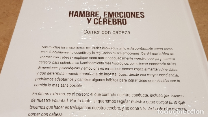 Libros: HAMBRE, EMOCIONES Y CEREBRO / NEUROCIENCIA Y PSICOLOGÍA / 38 / PRECINTADO. - Foto 2 - 198134497