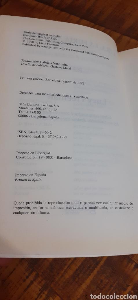 Libros: LA IRA, LA FURIA,LA RABIA.COMO COMPRENDER Y TRANSFORMAR LOS SENTIMIENTOS DESTRUCTIVOS REPRIMIDOS. - Foto 7 - 186105368