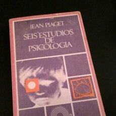 Libros: SEIS ESTUDIOS DE PSICOLOGÍA - JEAN PIAGET, BARRAL - EDICIONES DE BOLSILLO, 1970. Lote 197101968