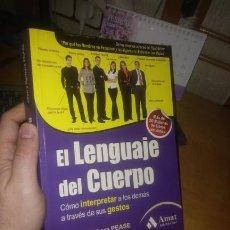 Livres: LIBRO: EL LENGUAJE DEL CUERPO. Lote 203923591