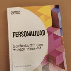 Livres: PERSONALIDAD - G. FEIXAS, COL. NEUROCIENCIA Y PSICOLOGÍA, EL PAÍS. Lote 208456893