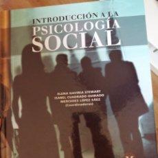Libros: INTRODUCCIÓN A LA PSICOLOGÍA SOCIAL. Lote 212257461