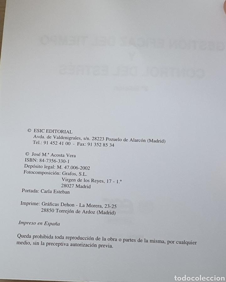 Libros: GESTIÓN EFICAZ DEL TIEMPO Y CONTROL DEL ESTRES - Foto 2 - 217761957