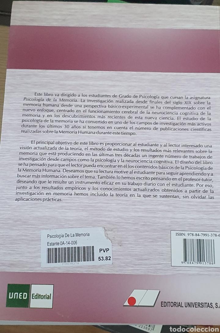 Libros: Psicología de la memoria. Estructura, procesos y sistemas - Foto 3 - 217761960