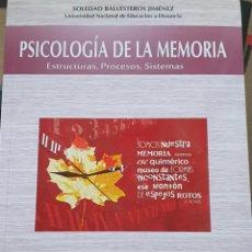 Libros: PSICOLOGÍA DE LA MEMORIA. ESTRUCTURA, PROCESOS Y SISTEMAS. Lote 217761960
