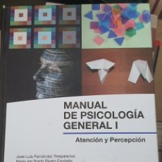 Libros: MANUAL DE PSICOLOGÍA GENERAL I. ATENCIÓN Y PERCEPCIÓN. Lote 217761990