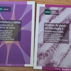 Libros: ANALISIS DE DATOS DE PSICOLOGÍA I Y FORMULARIO Y TABLAS DE INTRODUCCIÓN AL ANÁLISIS DE DATOS. Lote 218325958