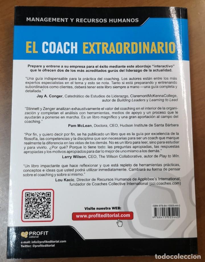 Libros: EL COACH EXTRAORDINARIO-John H.Zenger/Kathleen Stinnett-EDITORIAL PROFIT - Foto 2 - 218398415
