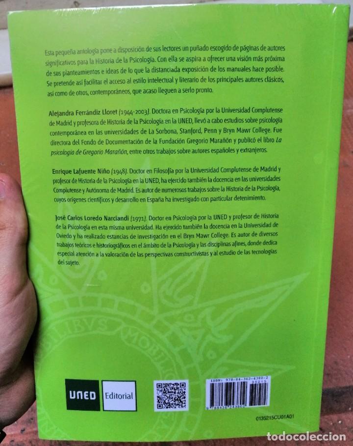 Libros: Lecturas de historia de la psicología. UNED. Ferrándiz Lloret, Alejandra; Lafuente Niño, Enrique - Foto 2 - 219329408