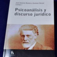 Libros: PSICOÁNALISIS Y DISCURSO JURÍDICO (ESCUELA LACANIANA) - DESSAL, GUSTAVO; BUSTOS, JOSÉ ANTONIO. Lote 219437448