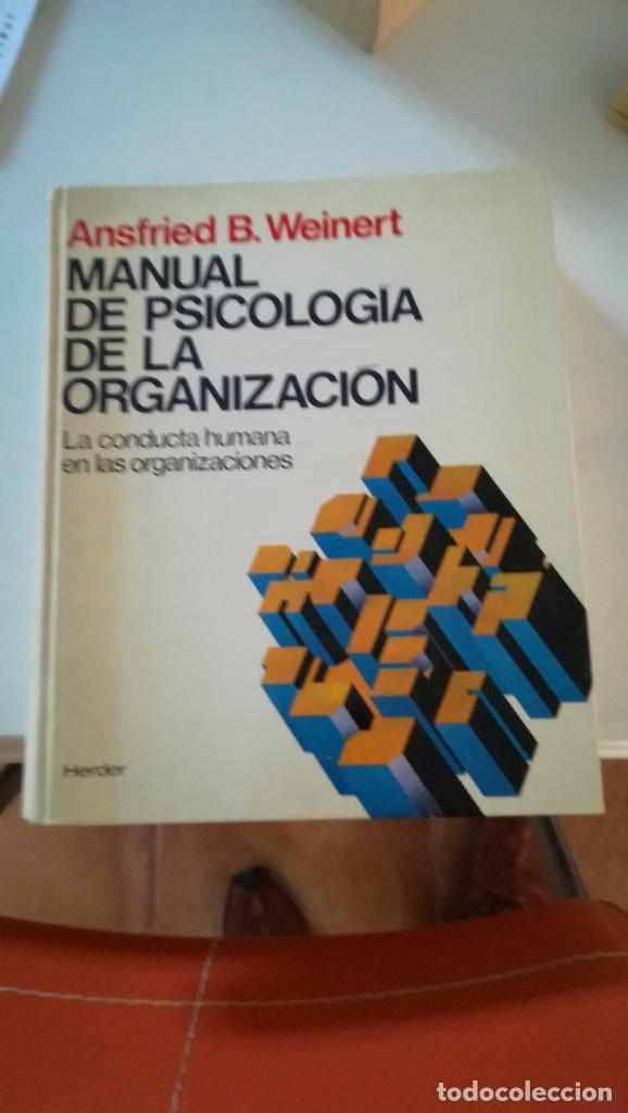 MANUAL PSICOLOGIA DE LAS ORGANIZACIONES (Libros Nuevos - Ciencias, Manuales y Oficios - Psicología y Psiquiatría )