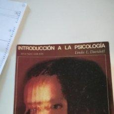 Libros: INTRODUCCION A LA PSICOLOGIA. Lote 227742430